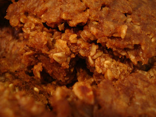 Finished homemade granola close up
