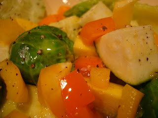 Mixed vegetables with dressing