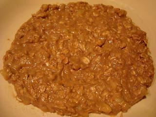Mixture of raw vegan breakfast cookie in bowl