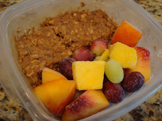 Refrigerated breakfast cookie topped with fresh fruit