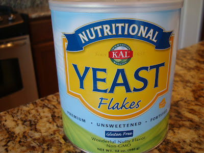 Nutritional Yeast container on counter top