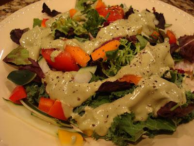 Salad with Raw Herbalicious Goddess Dressing