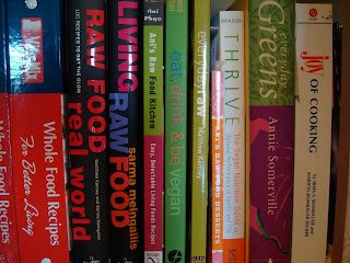 Shelf full of cookbooks