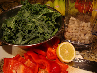 Ingredients needed to make Raw Vegan Kale Chips