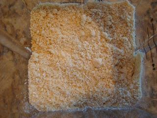 Overhead of cashew oat powder