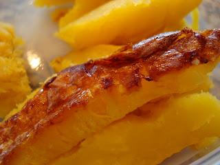 Close up of acorn squash fries