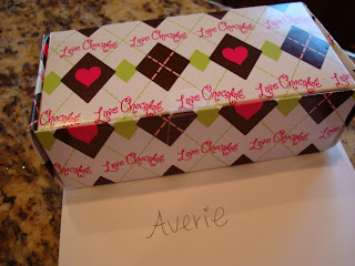 Decorated package with card on countertop