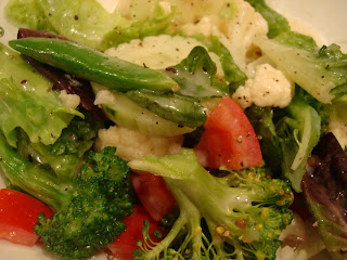 Raw Vegan Sugar Snap Pea Salad with Raw Vegan Creamy Tahini Dressing on plate