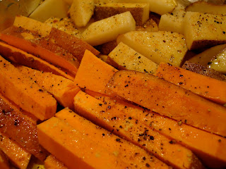 Up close of prepared potatoes