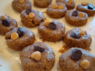 Almond butter cookies on plate