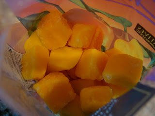 Diced mango chunks