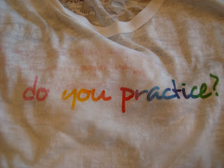 Shirt saying do you practice?