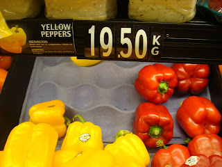 Aruban Price for Yellow Peppers