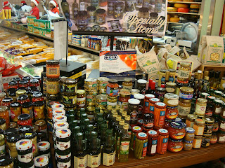 Seasonal groceries on shelf