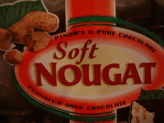 Up close of label of Nougat