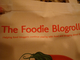 Close up of The Foodie Blogroll label