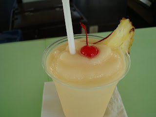 Pina Colada with Cherry and Pineapple