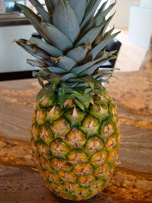 Whole Pineapple on countertop