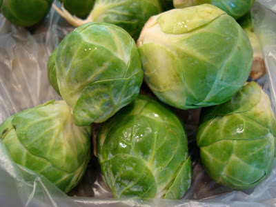 Close up of Brussel Sprouts
