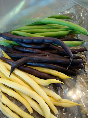 Yellow, Purple, and Green Beans