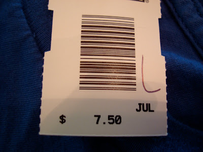 Discount tag showing price of $7.50