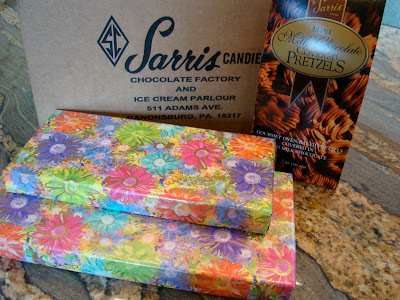 Boxes of chocolate wrapped up