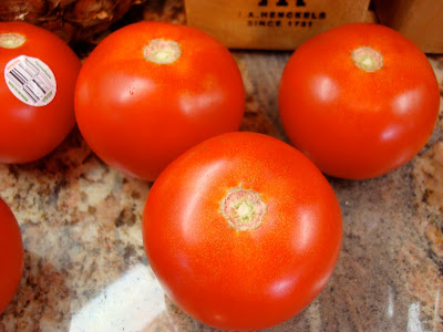 Tomatoes off vine