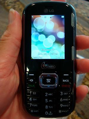 Hand holding new phone
