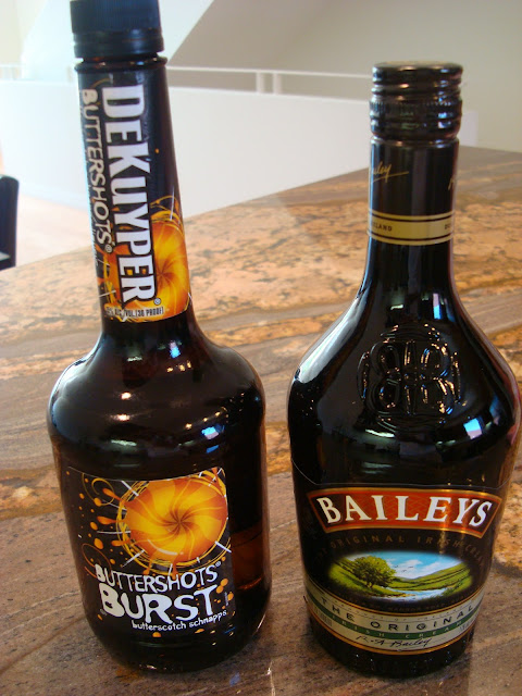 Buttershots and Bailey's bottles of liquor