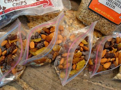 Homemade Trail Mix in zip top bags
