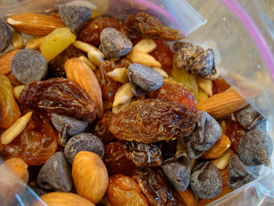 Inside bag of Homemade Trail Mix