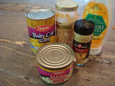 Ingredients needed to make Sweet & Sour Veggie Stir Fry