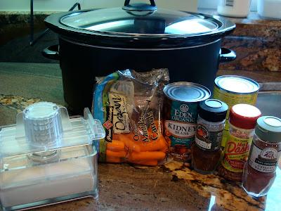 Ingredients needed to make Vegan Crock Pot Chili