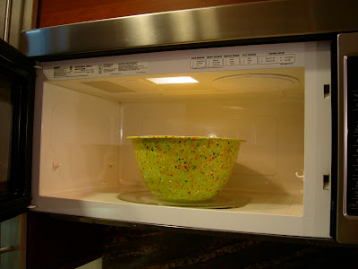 Bowl placed in microwave