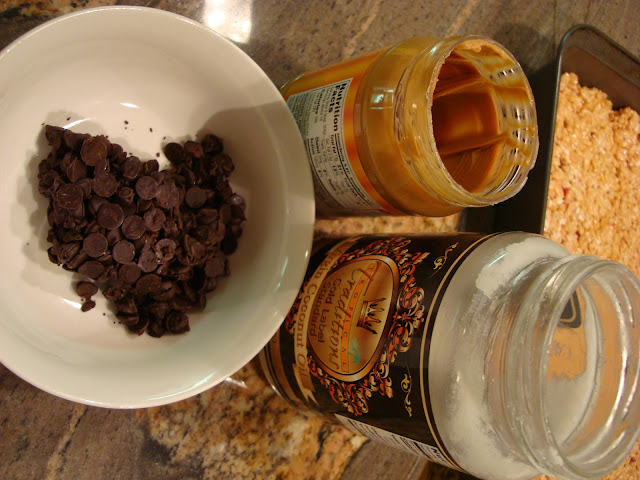 Chocolate Peanut Butter Coconut Oil Frosting ingredients