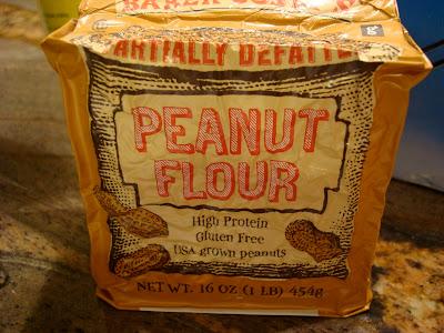 Bag of peanut flour