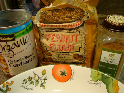 "Ingredients needed to make Cinnamon Sugar Peanut Buttery Chickpea ""Peanuts"" with Peanut Flour"