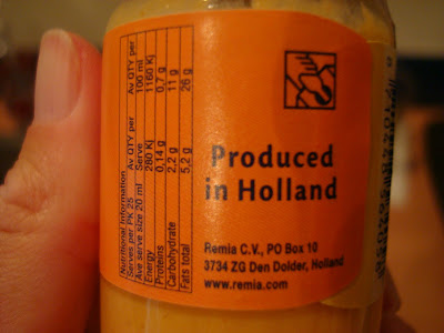 Whisky Cocktail sauce saying Produced in Holland