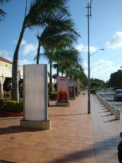 Sidewalk in front of the Hard Rock Cafe