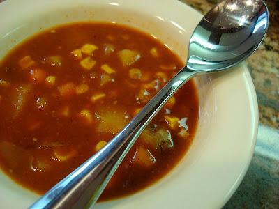 Spicy Vegetable Corn & Bean Soup