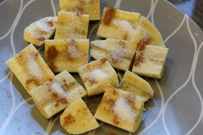 Bananas with sugar and spice
