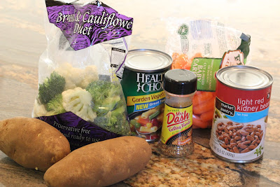 Ingredients for Cheezy Vegetable Bake