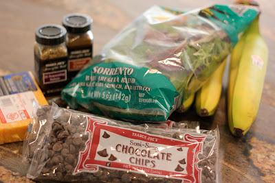 Variety of Trader Joes food on countertop