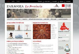 web del Patronato de Turismo de la Provincia de Zaragoza