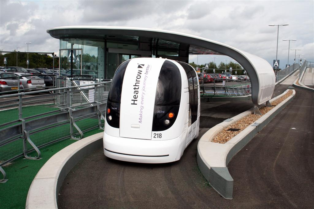 Small light-weight pod cars could be the public transport of the future.