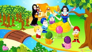 Juego de la princesa Blancanieves y los siete enanitos