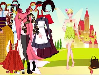 Los vestidos de la princesa encantada