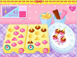 Juego de hacer helados de chocolate y fresa