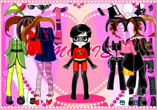 Vestir a la chica de Los increíbles