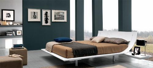 Beautiful Modern And Luxury Curved Bedroom Furniture Design Sets